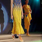 """Одежда ручной работы. Ярмарка Мастеров - ручная работа Платье """"Лето"""" из синего в желтый. Handmade."""
