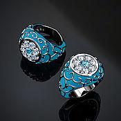 Украшения handmade. Livemaster - original item Ring: Enamel ring. Handmade.