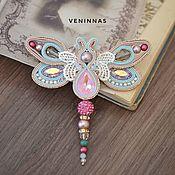 Украшения handmade. Livemaster - original item Spring Dragonfly Brooch. soutache brooch.. Handmade.