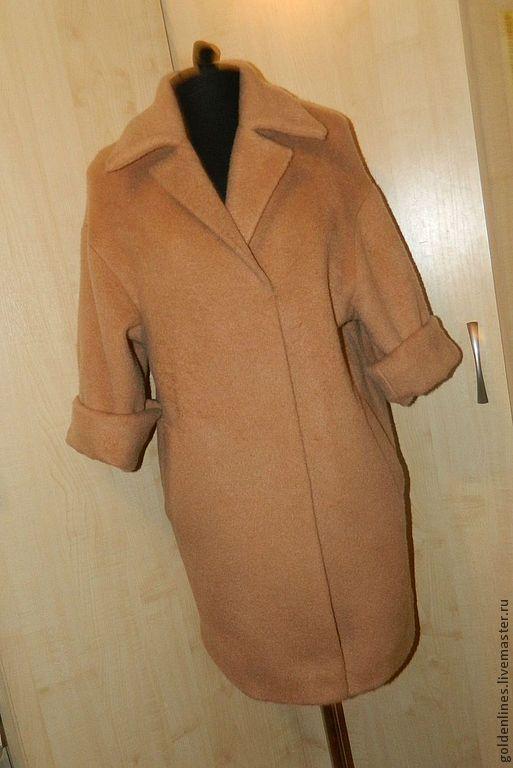 Верхняя одежда ручной работы. Ярмарка Мастеров - ручная работа. Купить пальто-оверсайз 1. Handmade. Бежевый, мода 2014