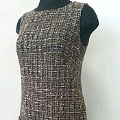 Одежда ручной работы. Ярмарка Мастеров - ручная работа 005:офисный сарафан из шерсти, офисное платье без рукавов. Handmade.
