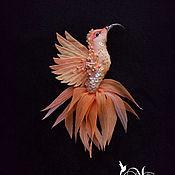Украшения handmade. Livemaster - original item Brooch Hummingbird Peach Trees.. Handmade.