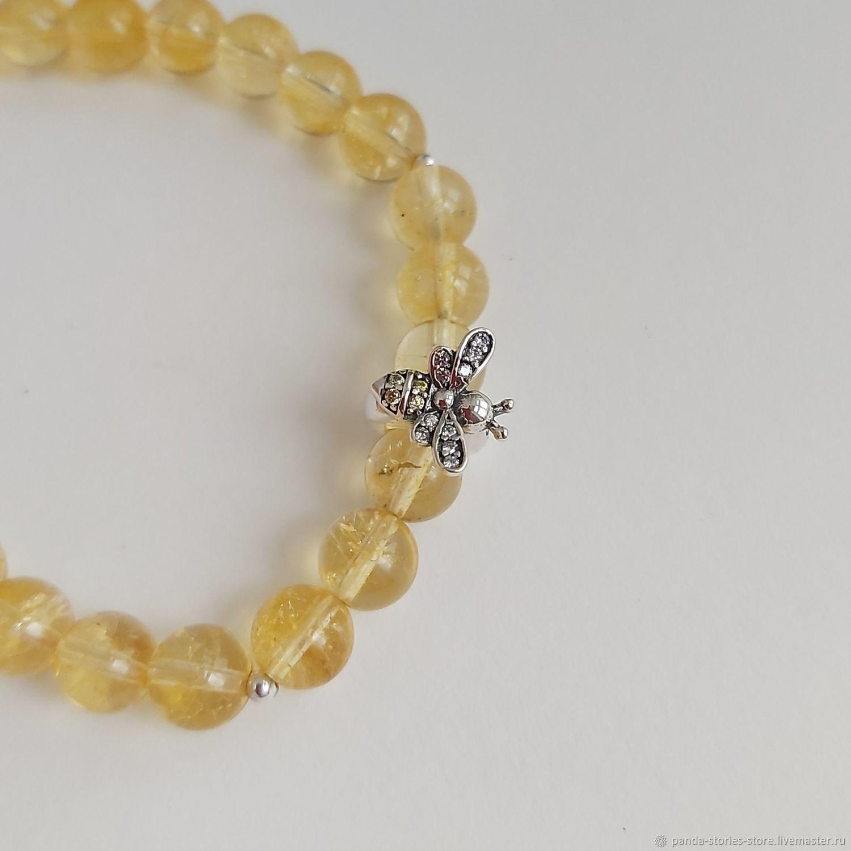Bee bracelet, quartz, silver, Bead bracelet, Moscow,  Фото №1