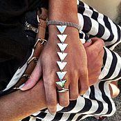 Слейв-браслет ручной работы. Ярмарка Мастеров - ручная работа Слейв браслет треугольники.. Handmade.
