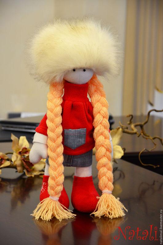 Куклы тыквоголовки ручной работы. Ярмарка Мастеров - ручная работа. Купить Кукла текстильная интерьерная. Handmade. Ярко-красный, малышка