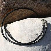 Украшения handmade. Livemaster - original item Gaitan leather braided. 925 sterling silver.. Handmade.