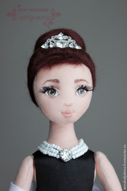 Коллекционные куклы ручной работы. Ярмарка Мастеров - ручная работа. Купить Холли, авторская текстильная кукла, завтрак у Тиффани, Одри Хэпберн. Handmade.
