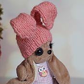 Одежда для кукол ручной работы. Ярмарка Мастеров - ручная работа Фото МК по шапочке с длинными ушками. Handmade.