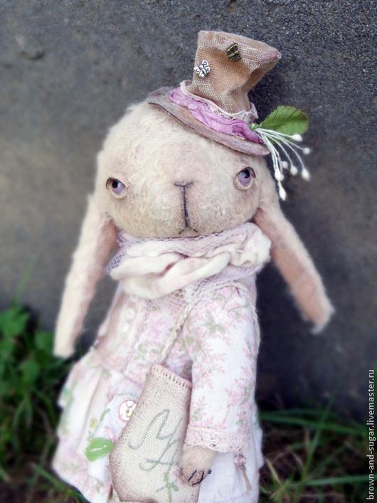 Мишки Тедди ручной работы. Ярмарка Мастеров - ручная работа. Купить Энни. Handmade. Бежевый, цветочный, хлопок, кружево