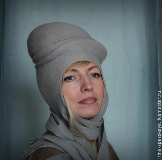 """Шляпы ручной работы. Ярмарка Мастеров - ручная работа. Купить """"Долгая дорога в снегах"""" из коллекции """"Бедуины"""". Handmade. Серый"""