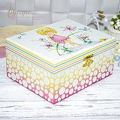 Для дома и интерьера handmade. Livemaster - original item Children`s jewelry box Children`s dreams jewelry box children`s jewelry Box for girls. Handmade.
