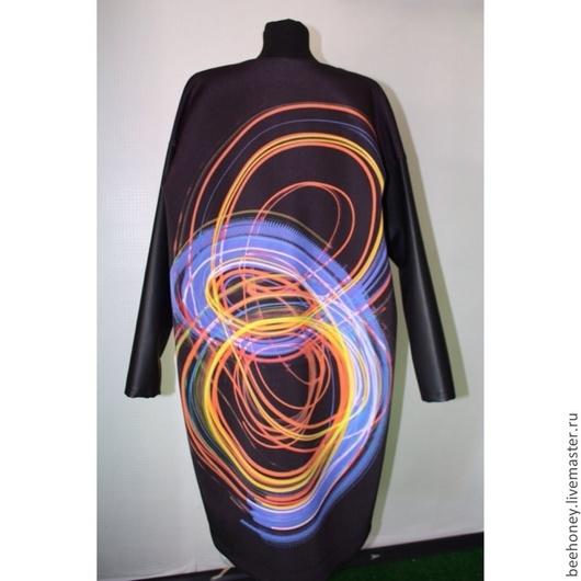 Верхняя одежда ручной работы. Ярмарка Мастеров - ручная работа. Купить Пальто женское oversize. Handmade. Черный, Осеннее пальто