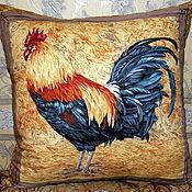 Для дома и интерьера ручной работы. Ярмарка Мастеров - ручная работа Интерьерная подушка с петухом.. Handmade.