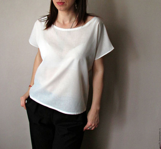"""Блузки ручной работы. Ярмарка Мастеров - ручная работа. Купить Блузка """"Tops"""" из итальянского батиста. Handmade. Белый, блуза из хлопка"""