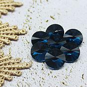 Материалы для творчества handmade. Livemaster - original item Glass rhinestones 12 mm Rivoli Zircon. Handmade.