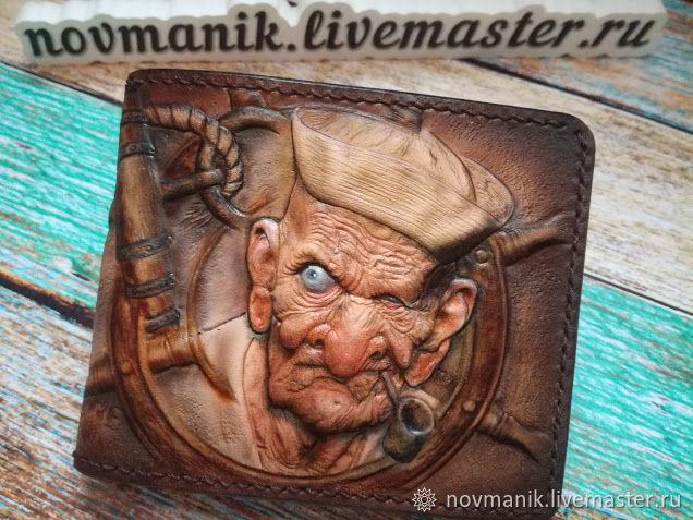 Портмоне (кошелек, бумажник) двойного сложения (Bi-fold wallet) № 48, Кошельки, Ковров,  Фото №1