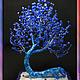"""Бонсай ручной работы. Ярмарка Мастеров - ручная работа. Купить """"Лазурный костер""""(натуральный лазурит). Handmade. Тёмно-синий, дерево из камней"""
