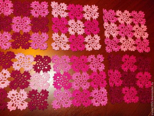 """Текстиль, ковры ручной работы. Ярмарка Мастеров - ручная работа. Купить Комплект салфеток""""Розовый сон"""". Handmade. Розовый, подарок"""