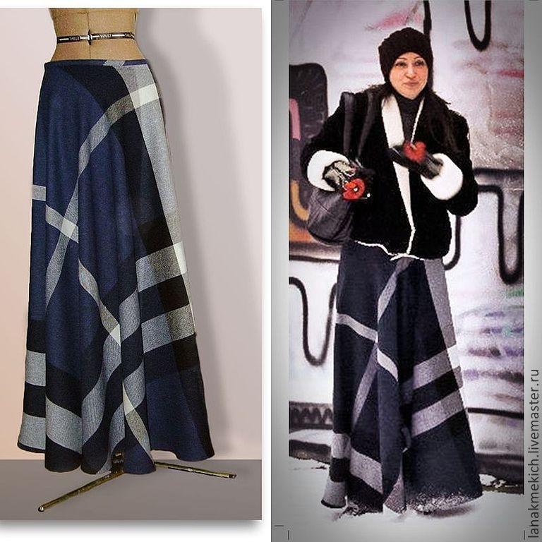 Зимняя длинная юбка фото
