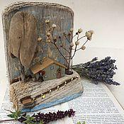Для дома и интерьера handmade. Livemaster - original item Statuettes: house with a vase. Handmade.
