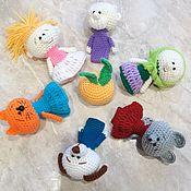 Куклы и пупсы ручной работы. Ярмарка Мастеров - ручная работа Репка пальчиковая сказка. Handmade.