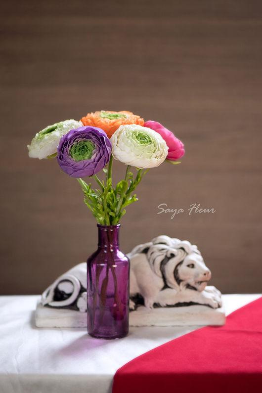Цветы ручной работы. Ярмарка Мастеров - ручная работа. Купить Ранункулюсы из полимерной глины. Handmade. Ранункулюс