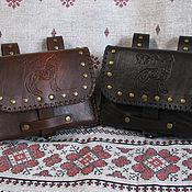 Поясная сумка ручной работы. Ярмарка Мастеров - ручная работа Поясная сумка Волк. Handmade.