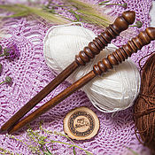 Материалы для творчества handmade. Livemaster - original item Wooden knitting needles 13mm/305#6. Handmade.