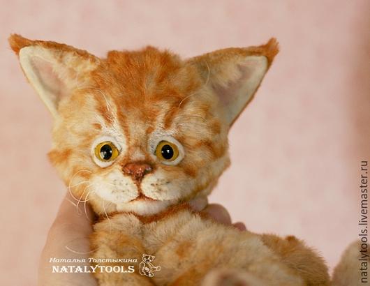 Мишки Тедди ручной работы. Ярмарка Мастеров - ручная работа. Купить MaineCoon cat. МейнКун котенок. Коллекционная игрушка тедди. Handmade.