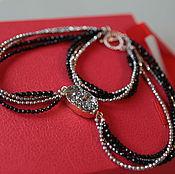 Украшения handmade. Livemaster - original item Jewelry set Lady black agate and hematite with drosou. Handmade.