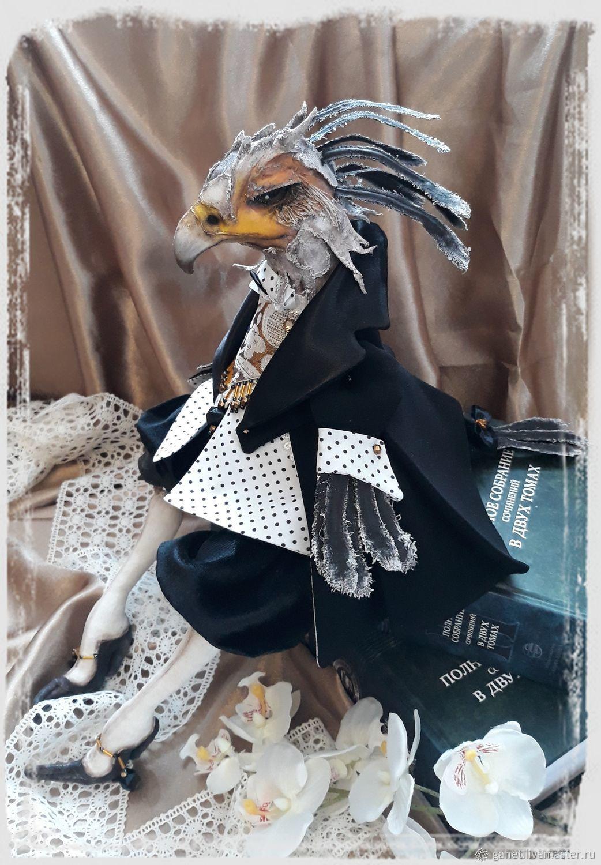 Птица- секретарь, Портретная кукла, Боковская,  Фото №1