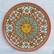 Русский стиль handmade. Livemaster - original item Decorative plate
