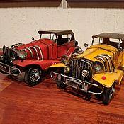Скульптуры ручной работы. Ярмарка Мастеров - ручная работа Ретро-модель автомобиля для декора (№CJ13031). Handmade.