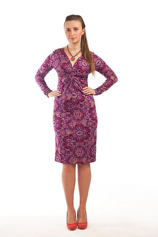 Платья ручной работы. Ярмарка Мастеров - ручная работа. Купить Трикотажное платье  - Фиолет. Handmade. Модное платье, трикотажное платье
