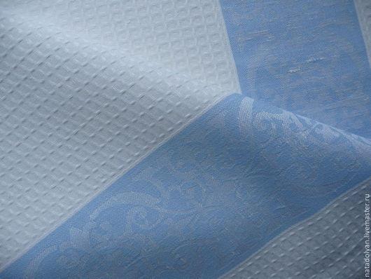"""Шитье ручной работы. Ярмарка Мастеров - ручная работа. Купить Лен полотенечный"""" Белоснежный с буфами"""". Handmade. Белый, ткань для шитья"""