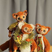 Куклы и игрушки ручной работы. Ярмарка Мастеров - ручная работа Озорные лисята. Handmade.