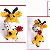 """Куклы и игрушки ручной работы. Ярмарка Мастеров - ручная работа Жираф """"Антоша"""", вязаная игрушка. Handmade."""