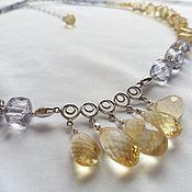 Украшения handmade. Livemaster - original item Silver necklace with Iolite and citrine.. Handmade.