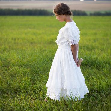 """Одежда ручной работы. Ярмарка Мастеров - ручная работа Белое кружевное платье в винтажном стиле """"Мария"""". Handmade."""