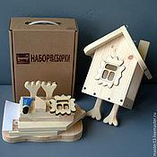 """Куклы и игрушки ручной работы. Ярмарка Мастеров - ручная работа Набор для сборки - Кормушка """"На курьих ножках"""". Handmade."""