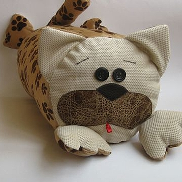For home and interior handmade. Livemaster - original item Pillow and toy cuddles the cat-stress-fat. Handmade.