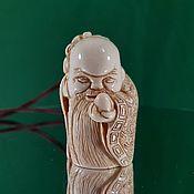 Для дома и интерьера handmade. Livemaster - original item Shou-sin — The Old Man of the South Pole. Netsuke from mammoth tusk. Handmade.