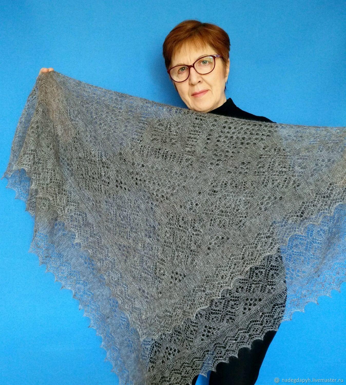 оренбургский платок паутинка схема