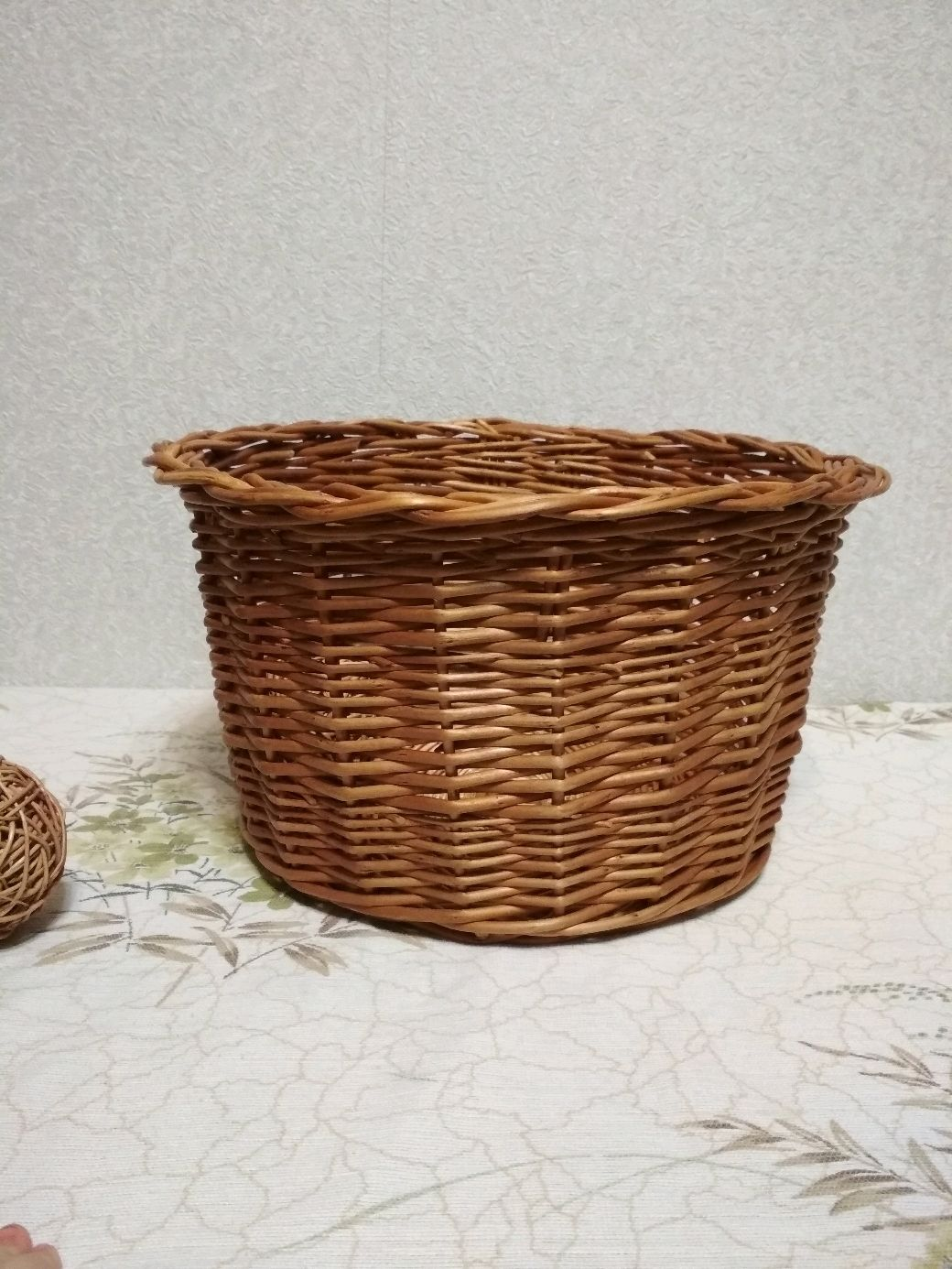 Round basket without handle made of willow vine, Basket, Kirovo-Chepetsk,  Фото №1