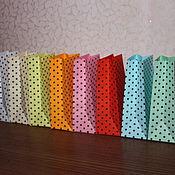 Сувениры и подарки ручной работы. Ярмарка Мастеров - ручная работа Упаковочный пакет цветной в горошек. Handmade.