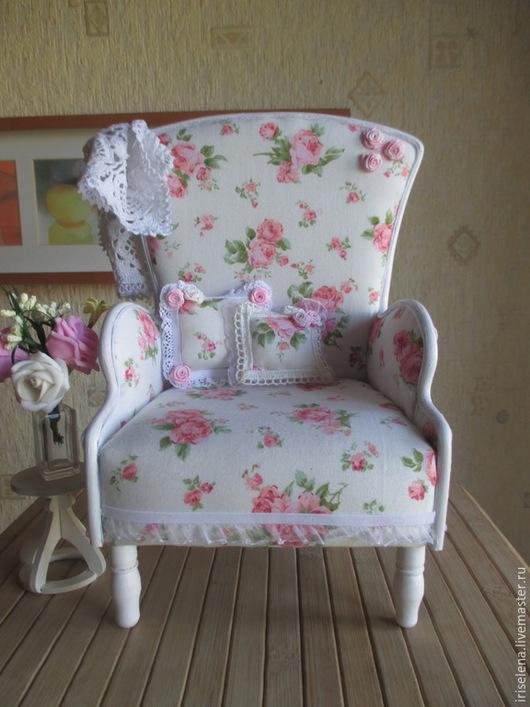 """Кукольный дом ручной работы. Ярмарка Мастеров - ручная работа. Купить Кресло """"Этот милый Шебби Шик"""" Для кукол от 35 до 45 см. Handmade."""