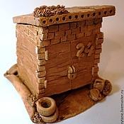 """Для дома и интерьера ручной работы. Ярмарка Мастеров - ручная работа Керамический чайный домик """"Гараж №24"""". Handmade."""