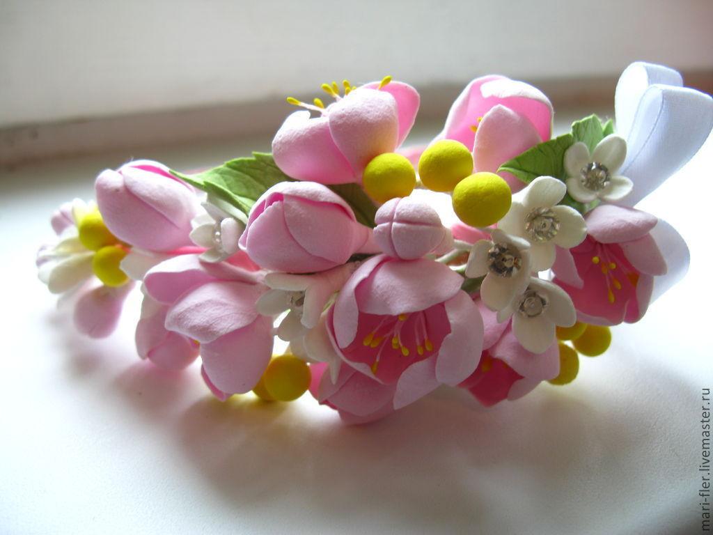 Ободки из цветов своими руками из полимерной глины