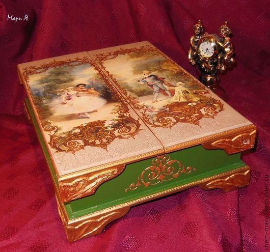 Шкатулка,  подарок девушке, подарок женщине, подарок подруге,  ,подарки, Подарок на день рождения, Французский стиль. Версаль, Подарок на Валентинов день, свадебная шкатулка, подарок на свадьбу