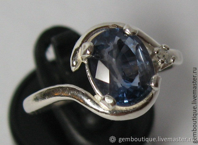 Natural 2.12 CT sapphire & ring silver 925, Rings, Moscow,  Фото №1